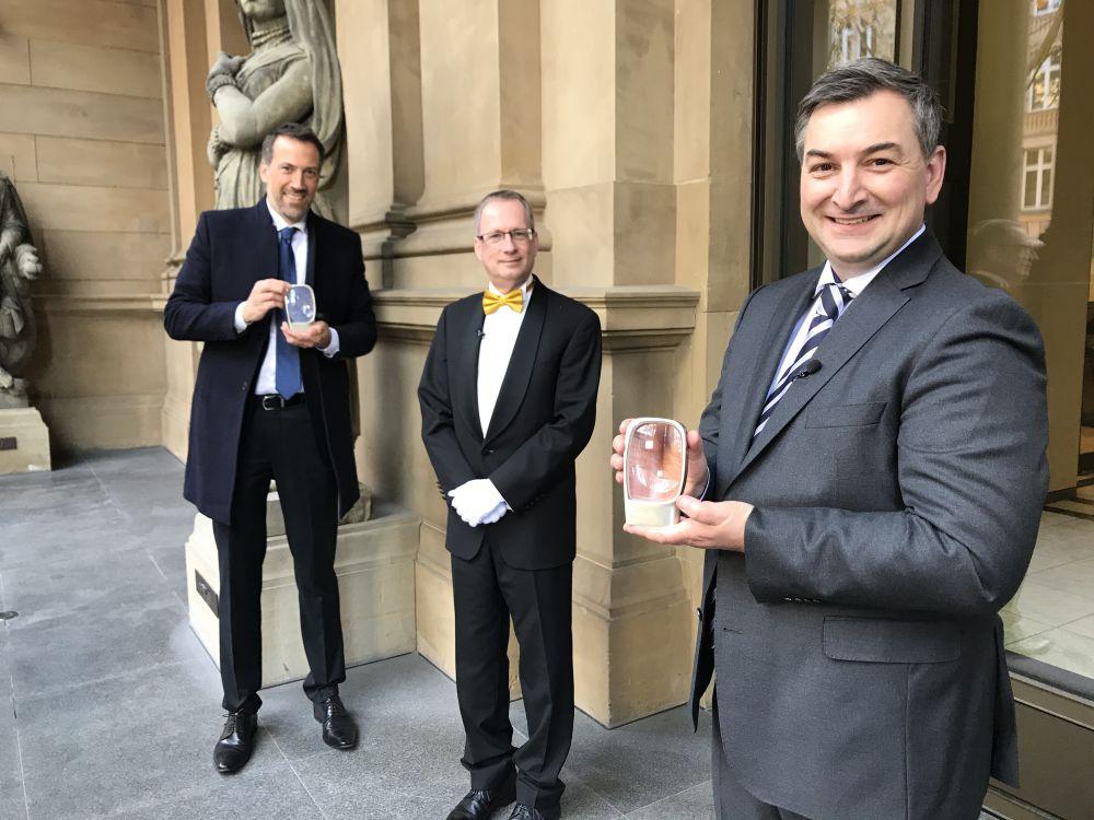 Marcus Niehaves, Dr. Hartmut Spiesecke und Markus Gürne